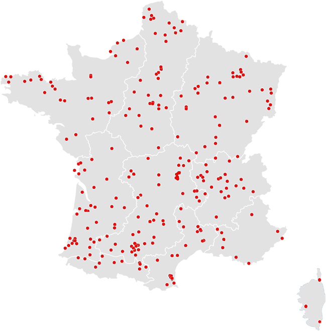 Carte du réseau Araltec